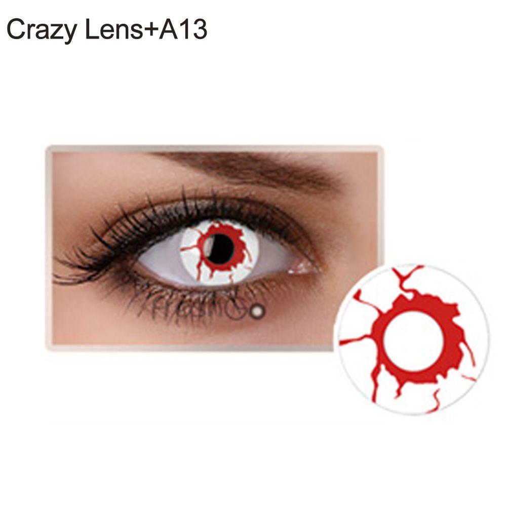 Lente de contato branca com sangue(A23)