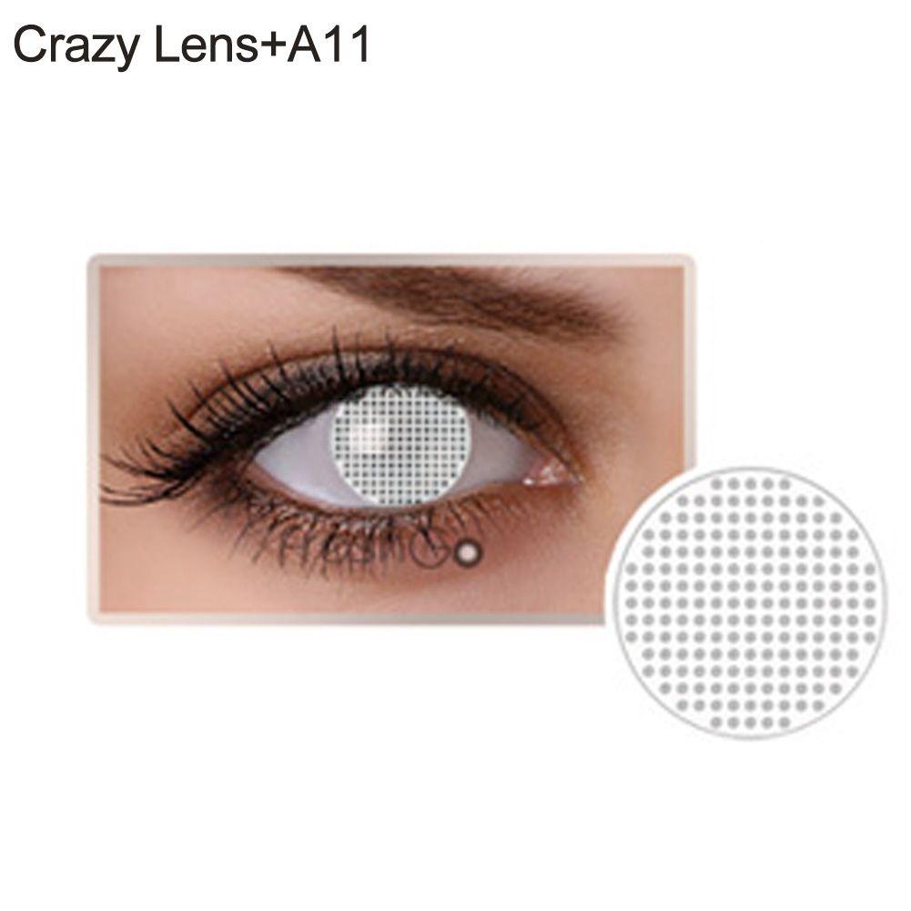 Lente de contato branca - olho cego (A11)