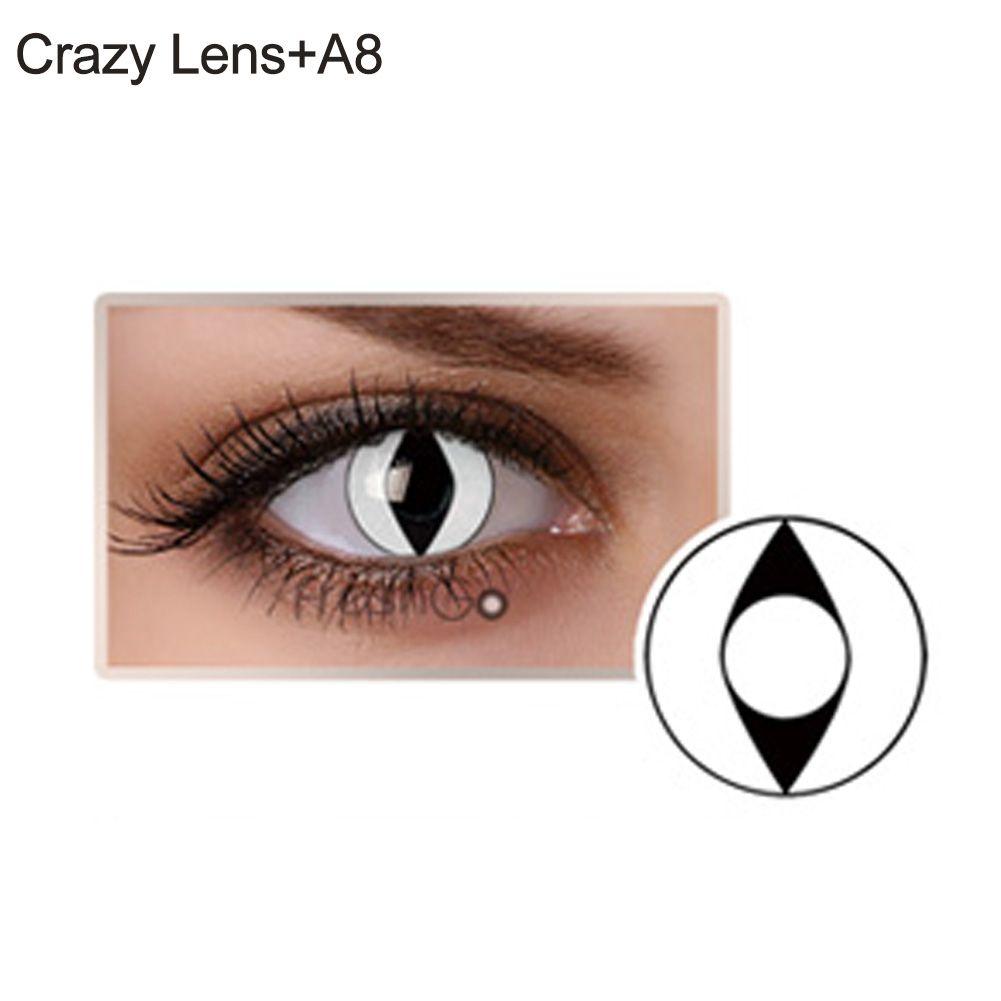 Lente de contato branca - olho de gato (A8)