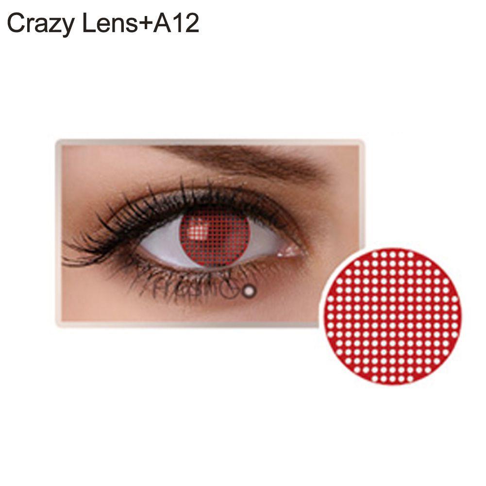 Lente de contato olho cego vermelho (A12)
