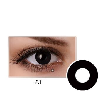 Lente de contato olho Preto (A1)  - Loja Cor e Magia
