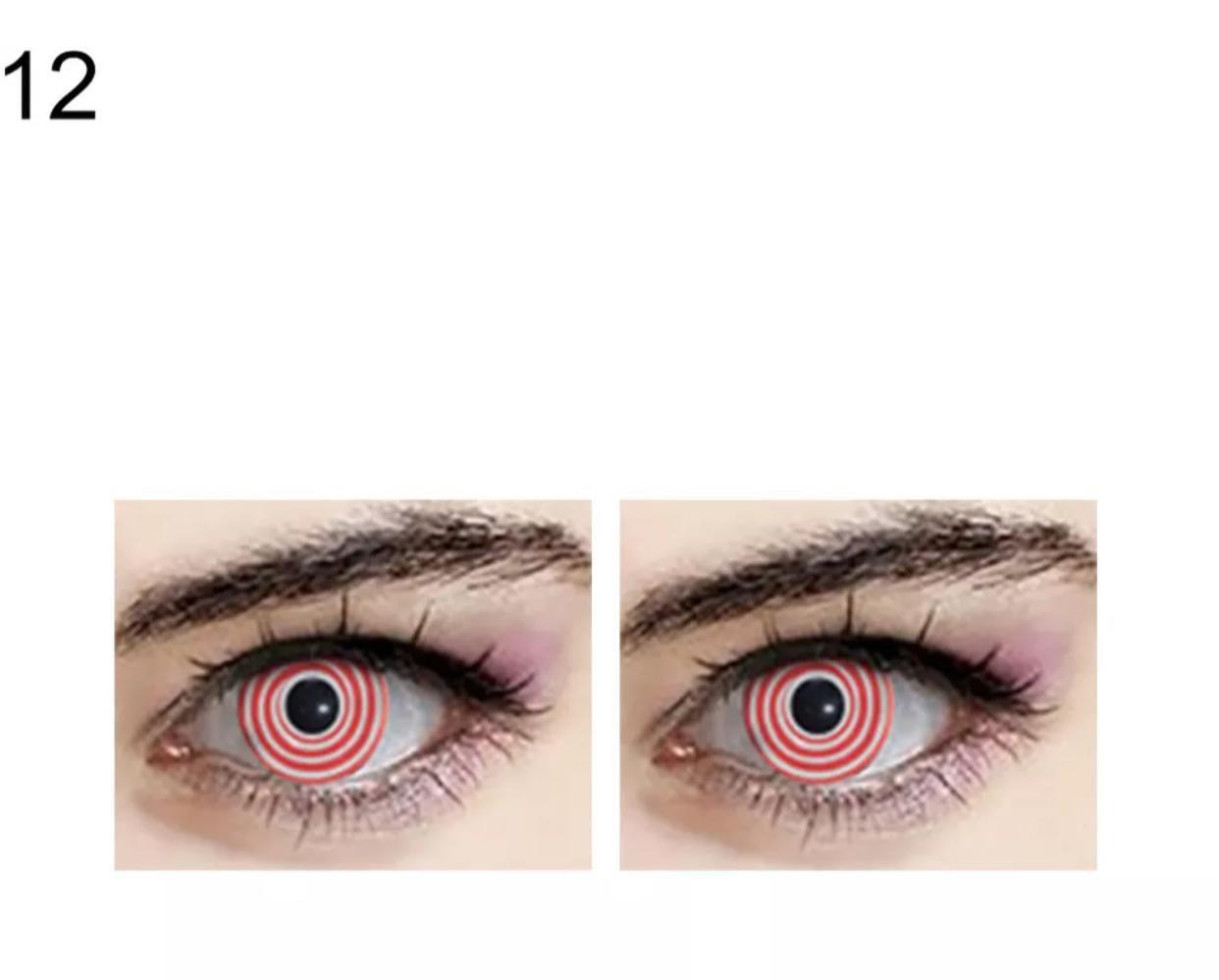 Lente de contato Spiral Vermelha (A29)