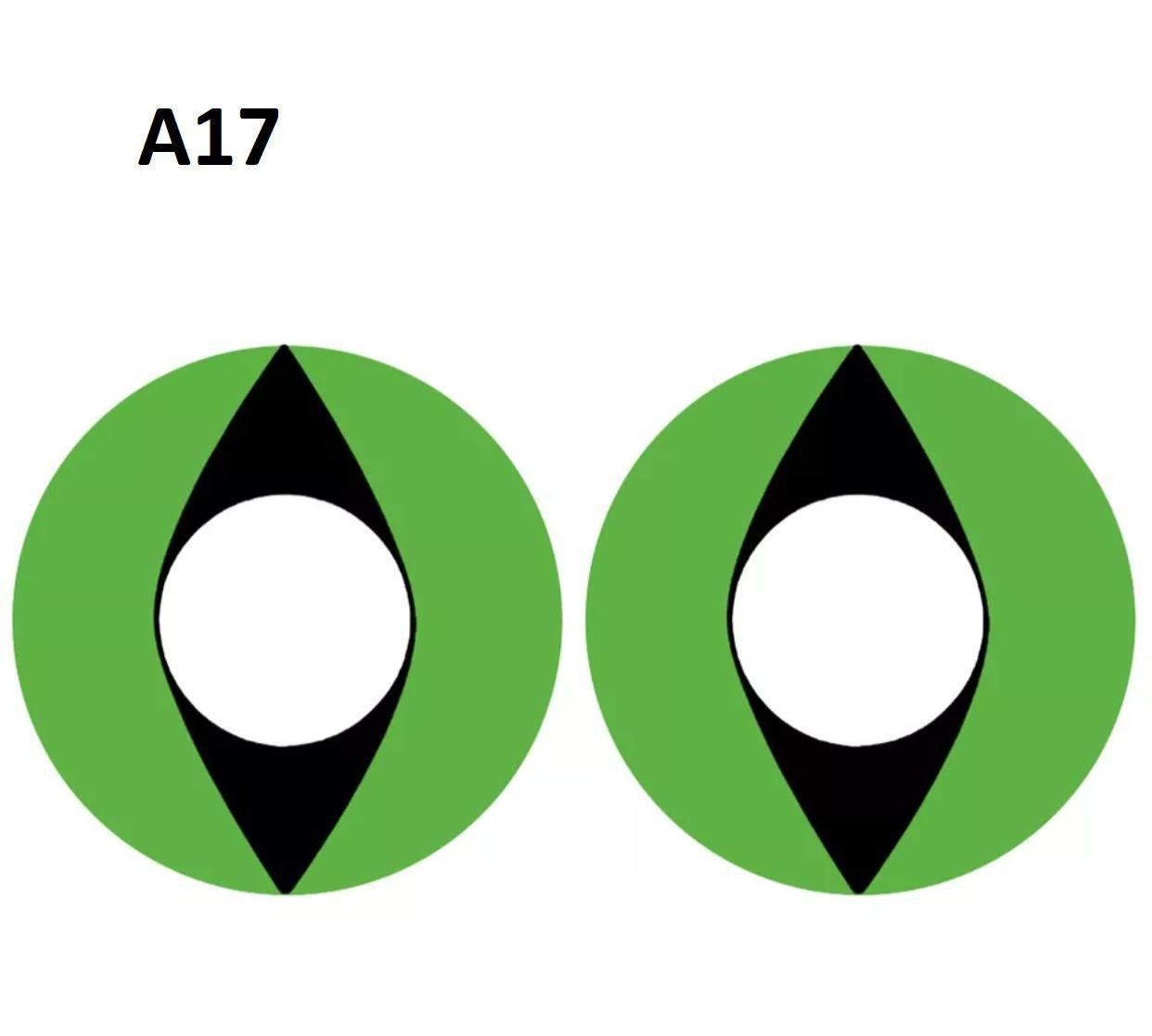 Lente de contato Verde - olho de gato (A17)