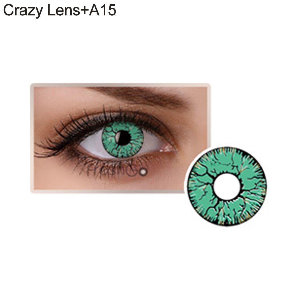 Lente de contato verde/turquesa (A15)