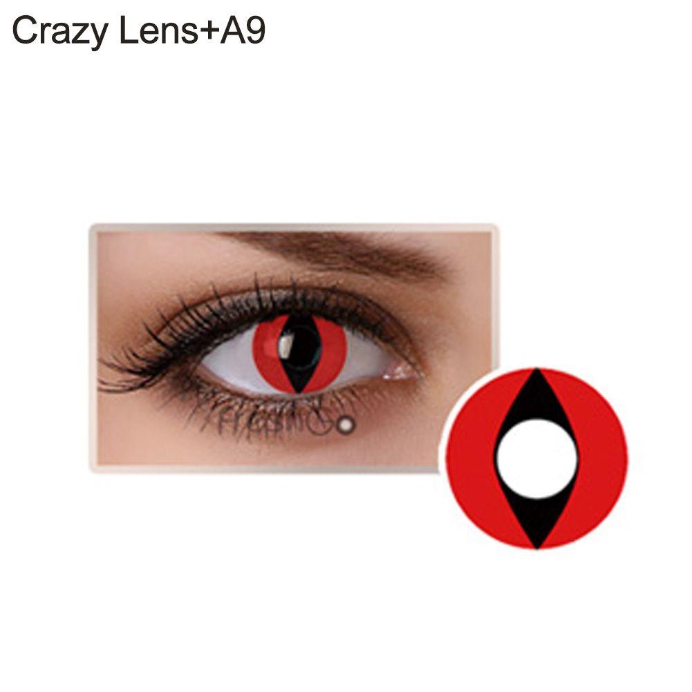 Lente de contato vermelha - olho de gato (A9)