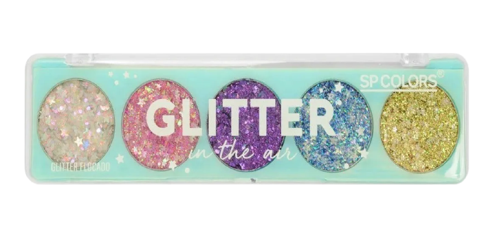 Paleta de Sombra (tipo A) Glitter Cremoso On The Air Sp Colors c/ 5 cores