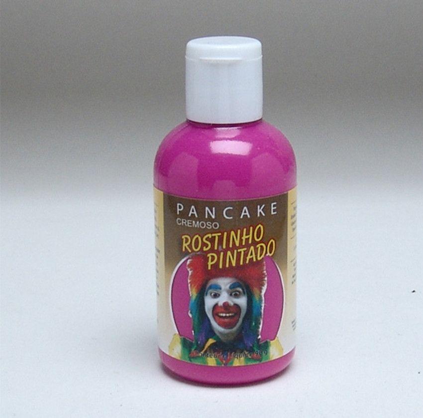 Pancake Cremoso Rosa Fluor 90gr (Rostinho Pintado/Lary)