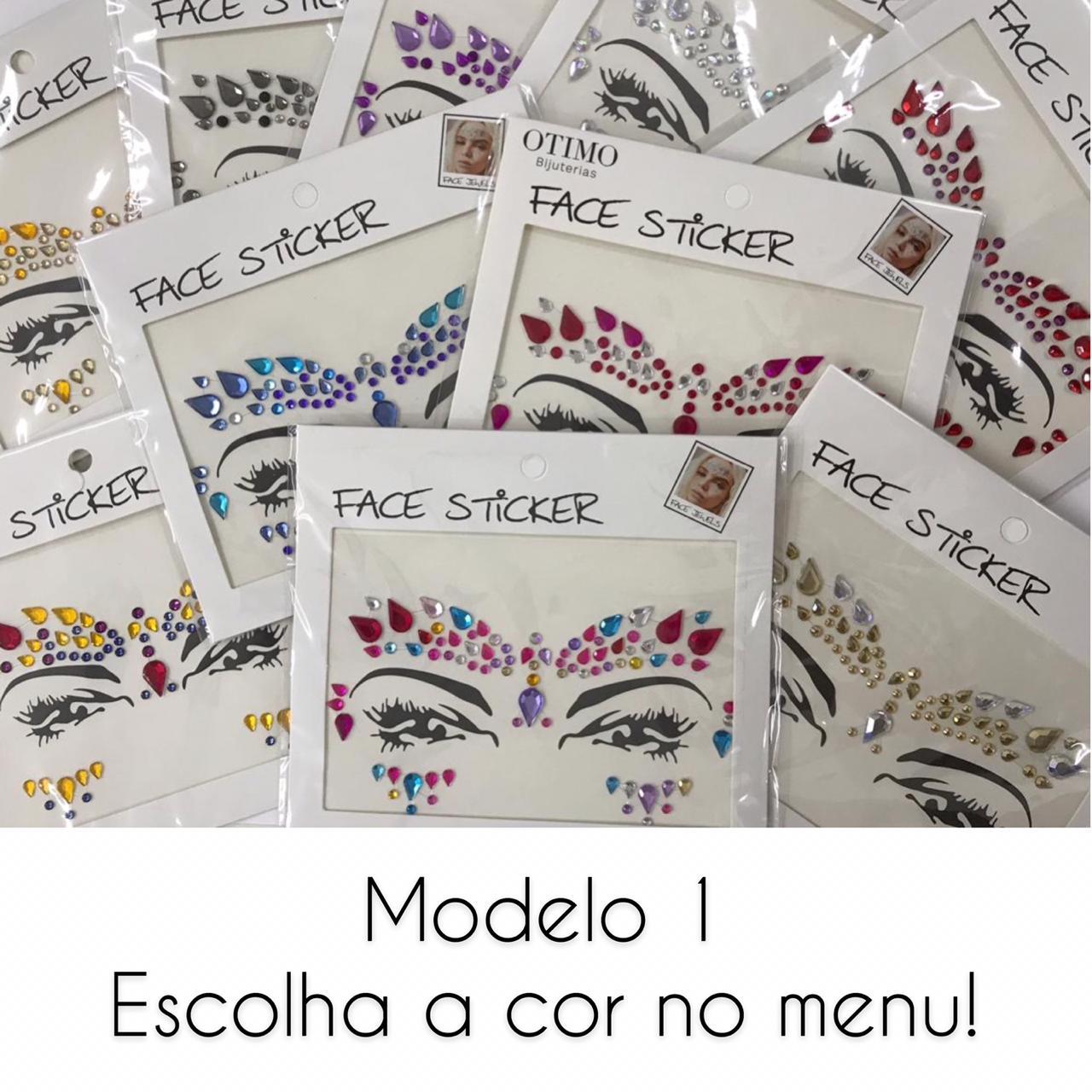 Pedrinhas Face Sticker Carnaval Modelo 1