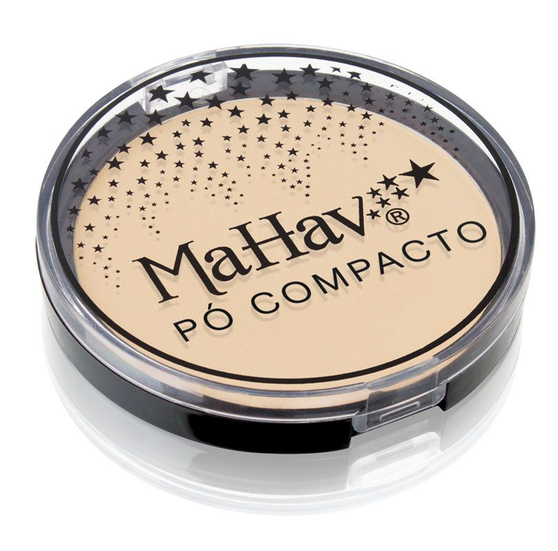 Pó Compacto Mahav - Cor 1 Bege Pele Clara