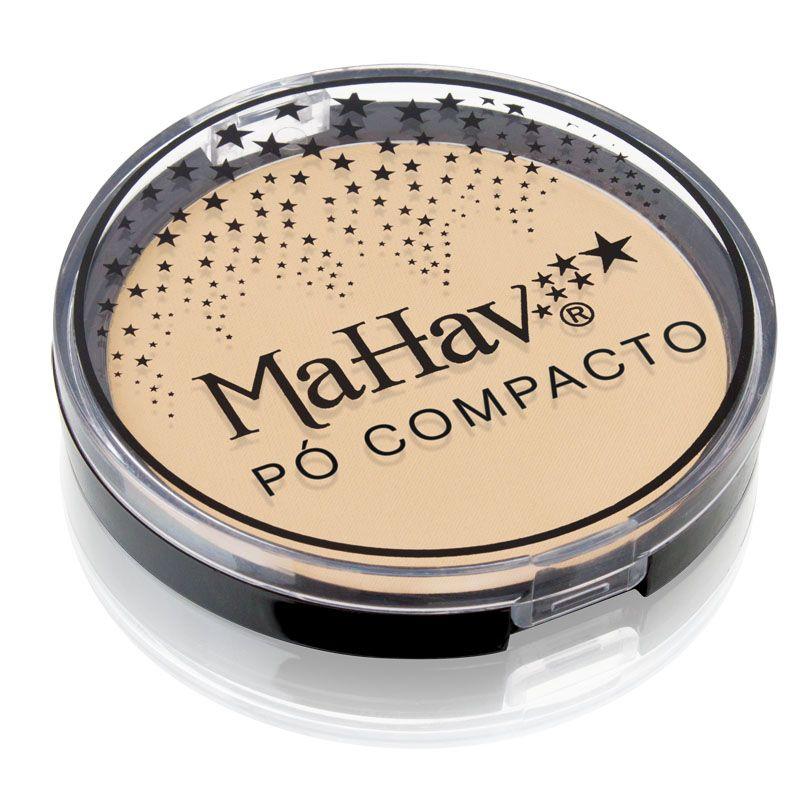 Pó Compacto Mahav - Cor 2 Bege