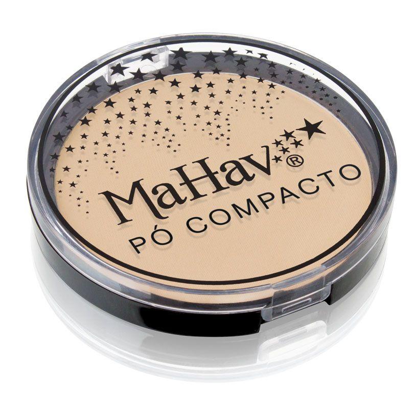 Pó Compacto Mahav - Cor 3 Bege Claro