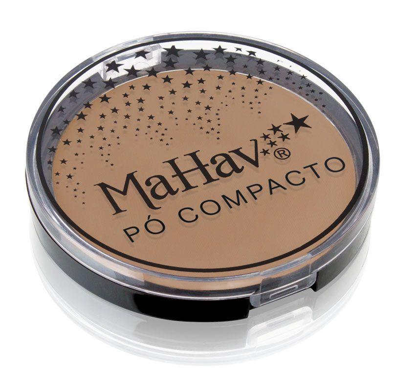 Pó Compacto Mahav - Cor 6 Pele negra