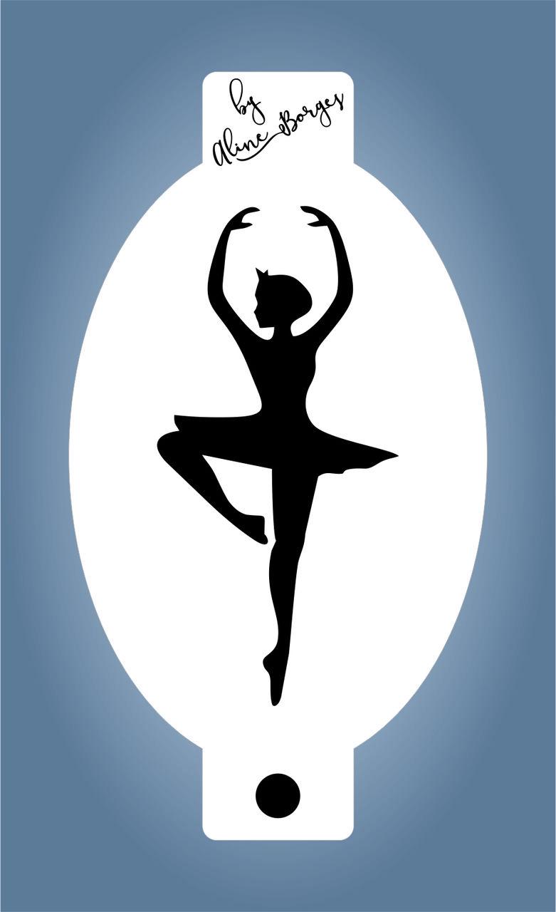 Stencil Bailarina