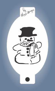 Stencil Boneco de neve
