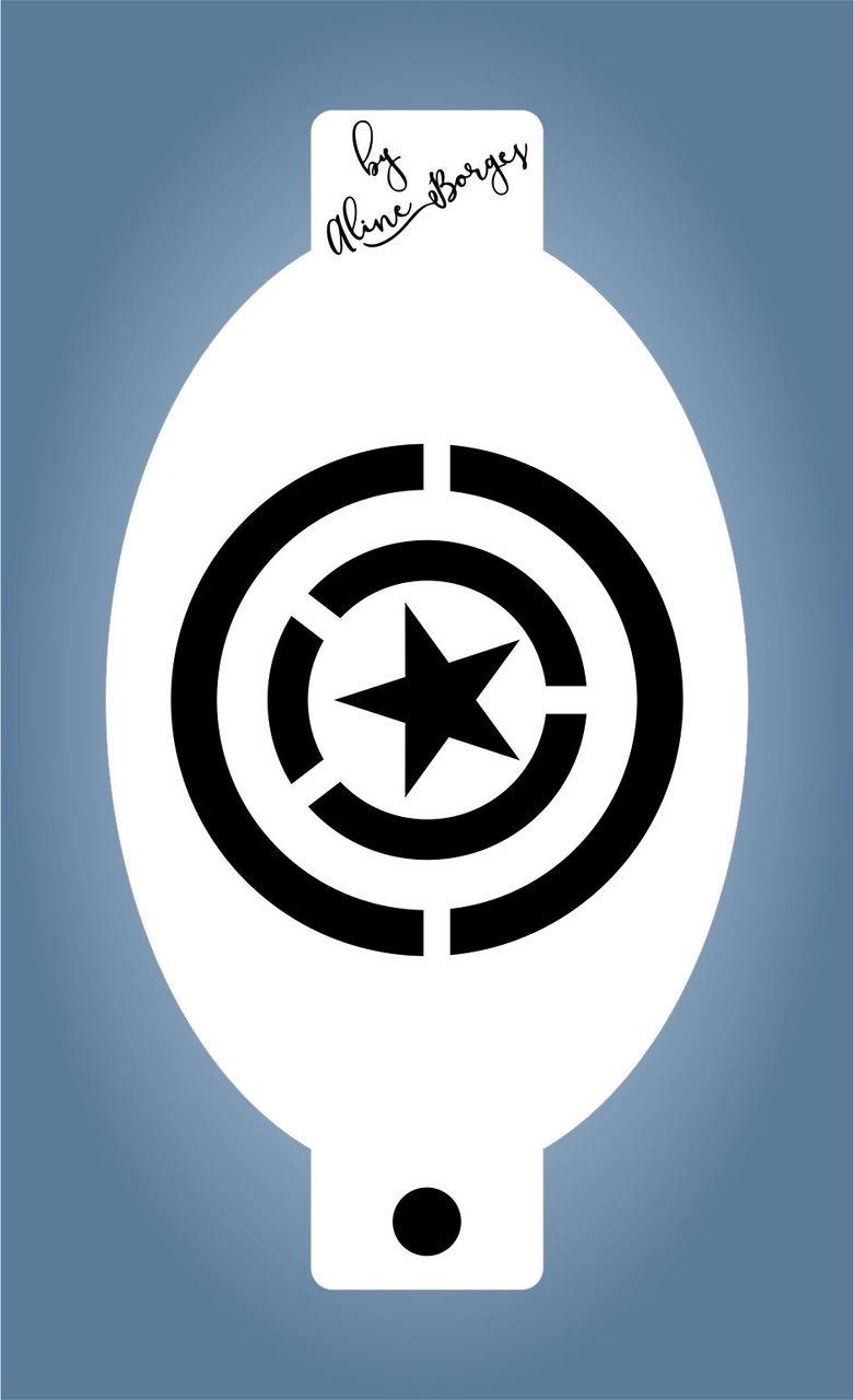 Stencil Capitão America