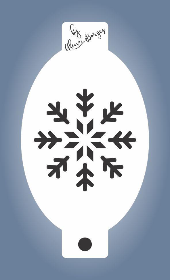 Stencil Floco de Neve G1