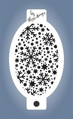 Stencil  Flocos de Neve mix