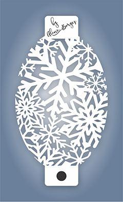 Stencil  Flocos de Neve Textura