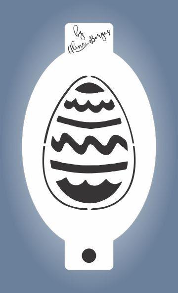 Stencil Ovo de Páscoa