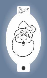 Stencil Papai Noel