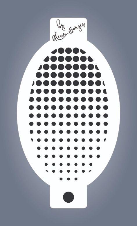 Stencil Textura Bolinhas em Degrade