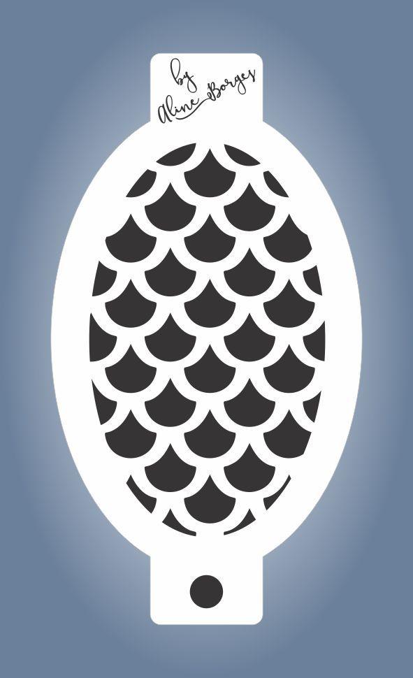Stencil Textura Escama de Sereia