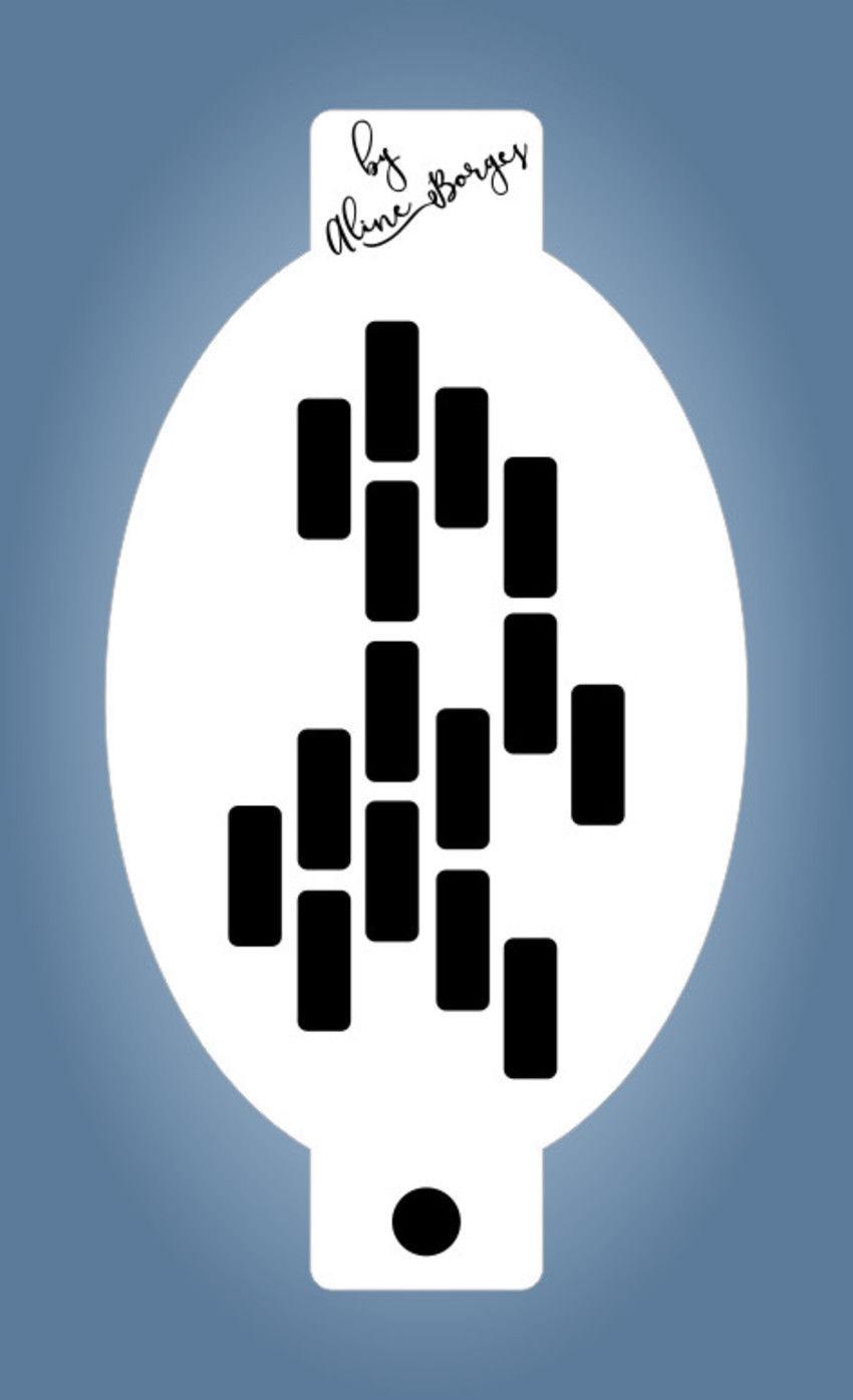 Stencil Textura Tijolinhos