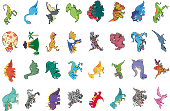 Tatuagens Temporárias 32 pçs Dinossauros