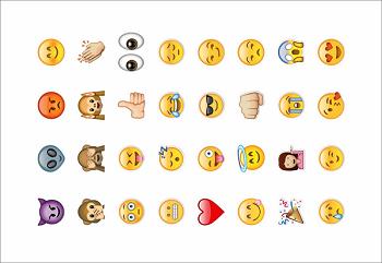Tatuagens Temporárias 32 pçs - Emoji