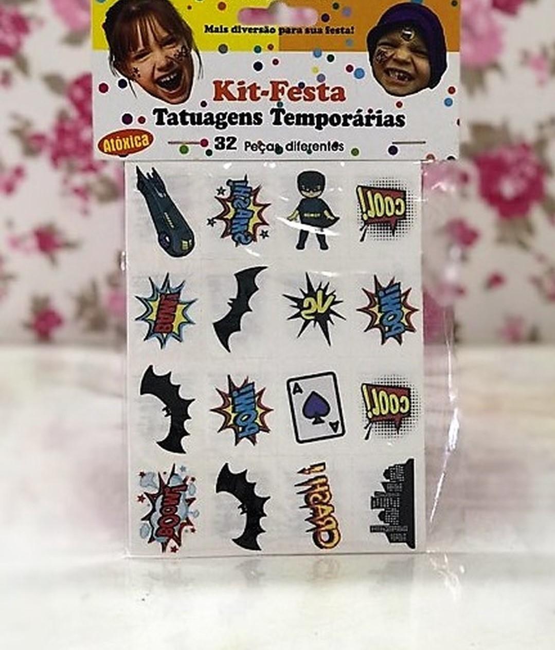 Tatuagens Temporárias 32 pçs - Mini Batman