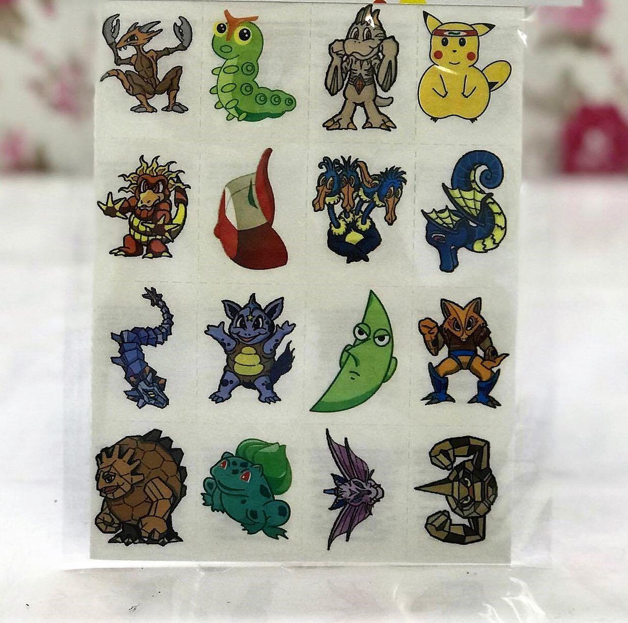 Tatuagens Temporárias 32 pçs - Pokemon