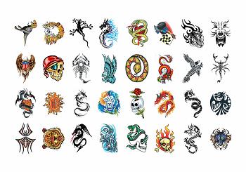 Tatuagens Temporárias 32 pçs - Radicais