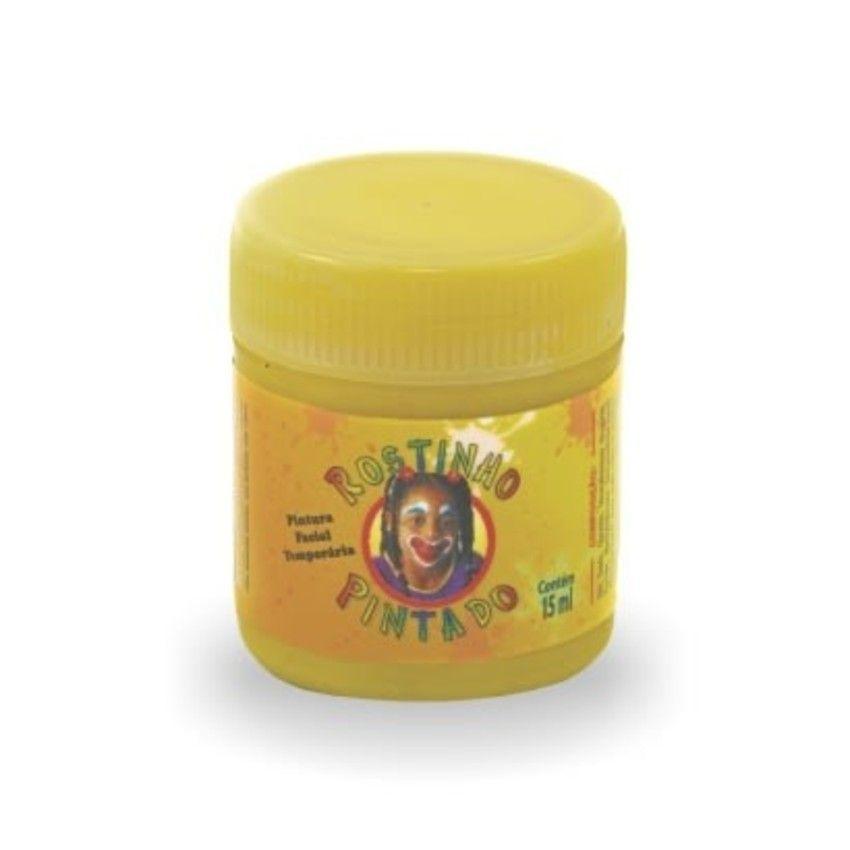 Tinta Líquida Amarela 15ml Rostinho Pintado