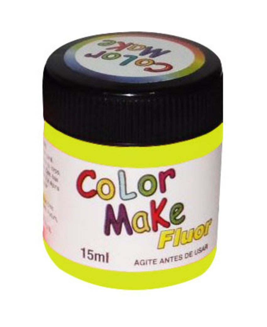 Tinta Líquida Amarelo Flúor 15ml Color Make