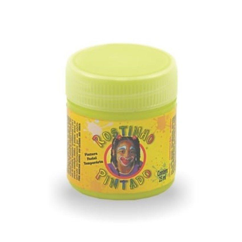 Tinta Liquida Amarelo Flúor 15ml Rostinho Pintado