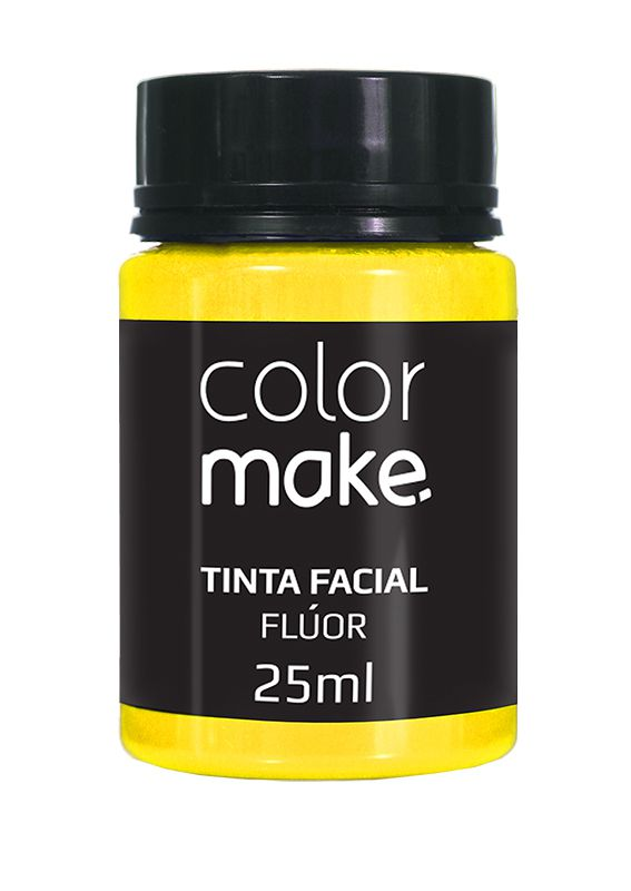 Tinta Líquida Amarelo Flúor 25ml Color Make
