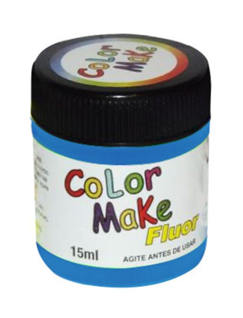 Tinta Líquida Azul Flúor 15ml Color Make
