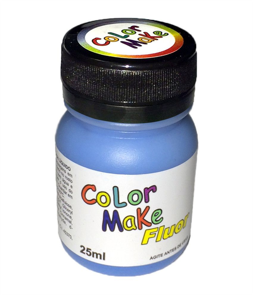 Tinta Líquida Azul Flúor 25ml Color Make