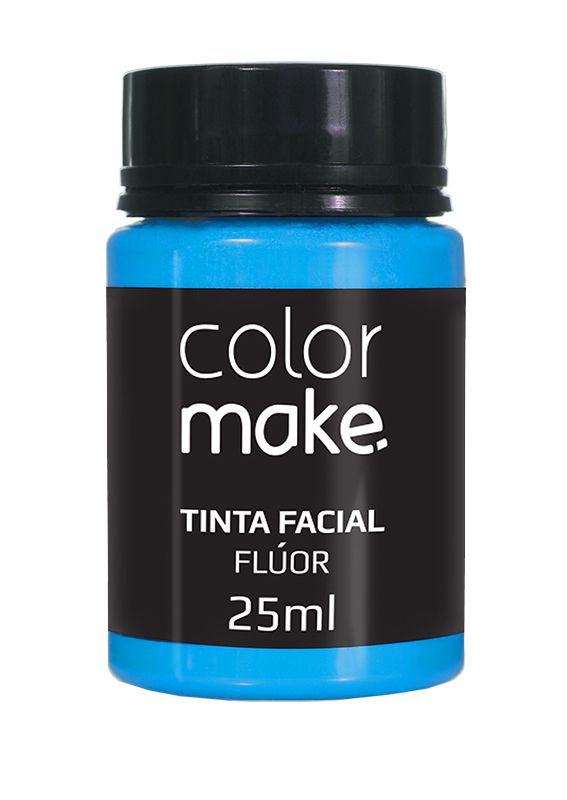 Tinta Líquida Azul Flúor 25ml Color Make