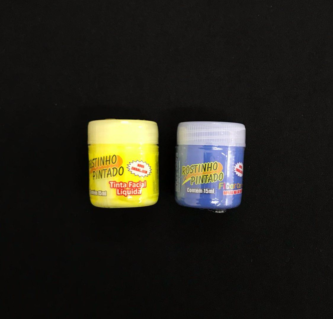 Tinta Líquida Flúor (neon) 15ml Rostinho Pintado