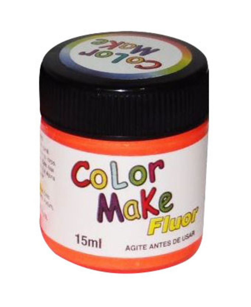 Tinta Líquida Laranja Flúor 15ml Color Make