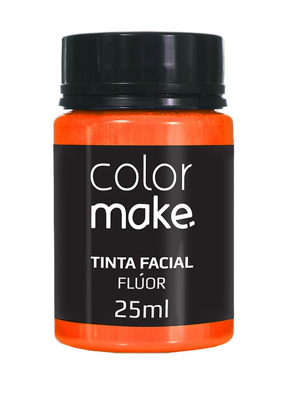 Tinta Líquida Laranja Flúor 25ml Color Make