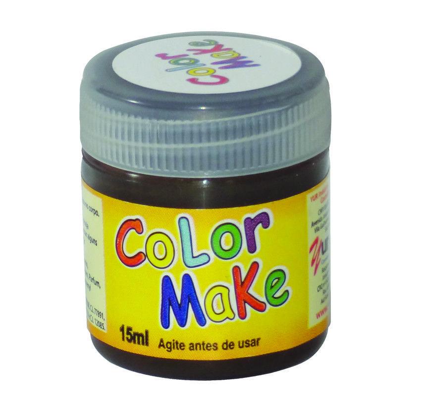 Tinta Líquida Marrom 15ml Color Make