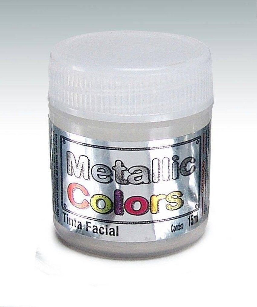 Tinta Liquida Metálica Branco 15ml Rostinho