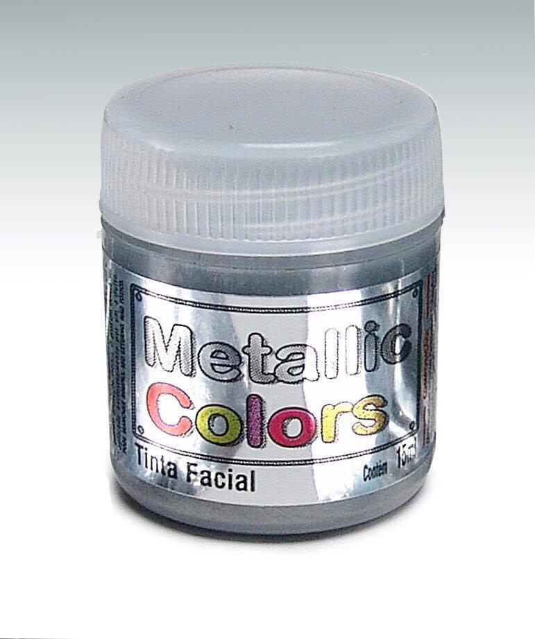 Tinta Liquida Metálica Prata 15ml Rostinho