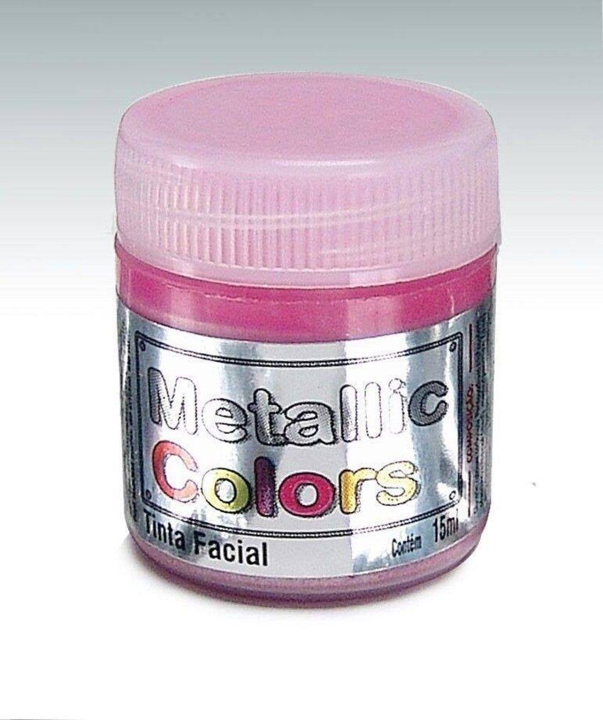 Tinta Liquida Metálica Rosa 15ml Rostinho