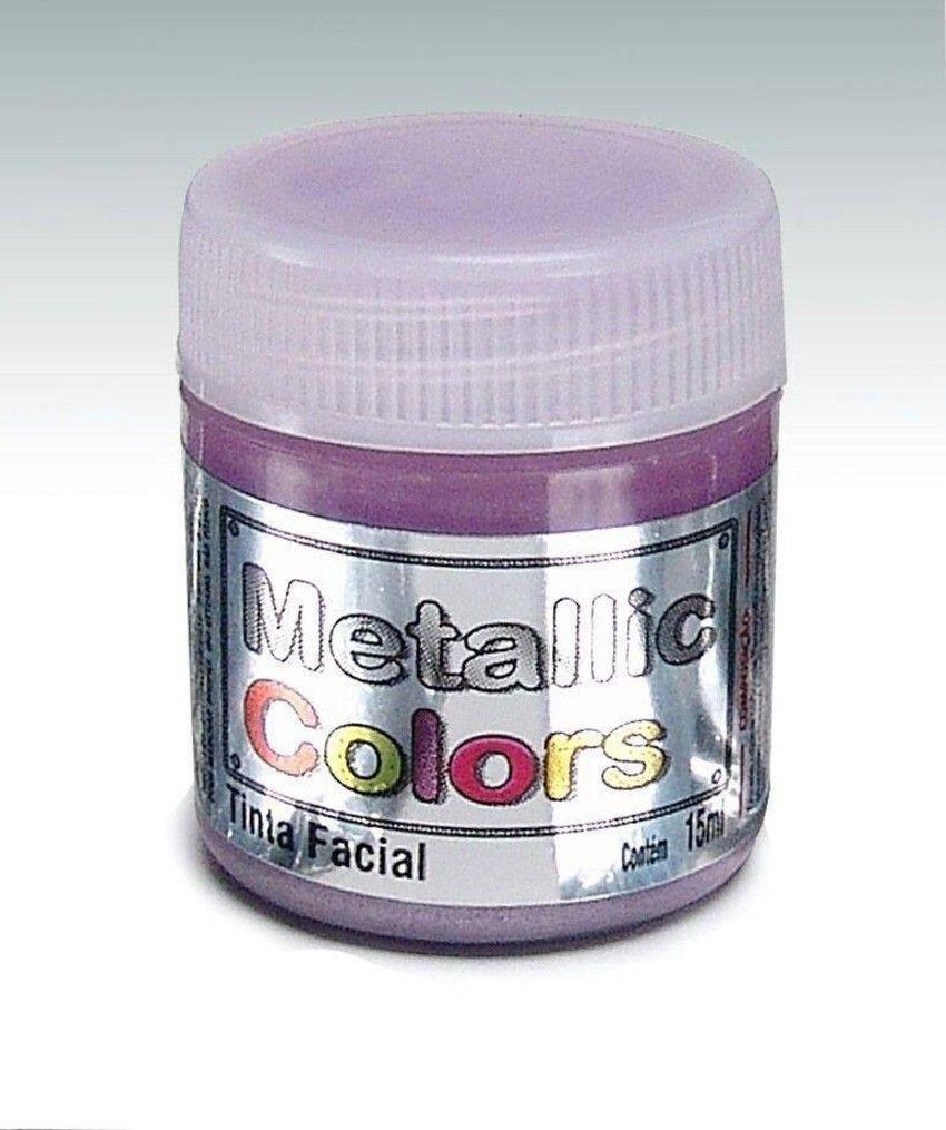 Tinta Liquida Metálica Roxo 15ml Rostinho