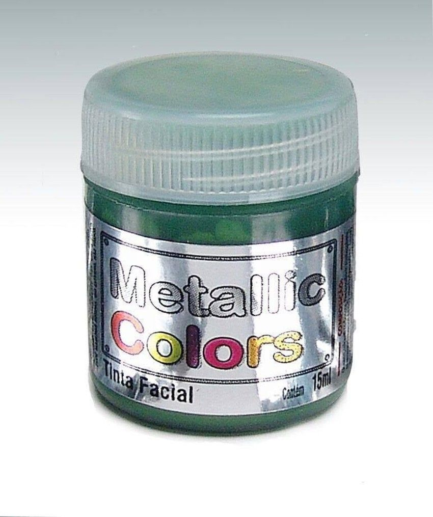 Tinta Liquida Metálica Verde 15ml Rostinho
