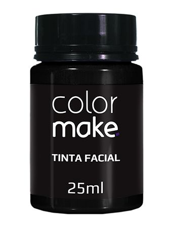 Tinta Liquida Preta 25ml Color Make