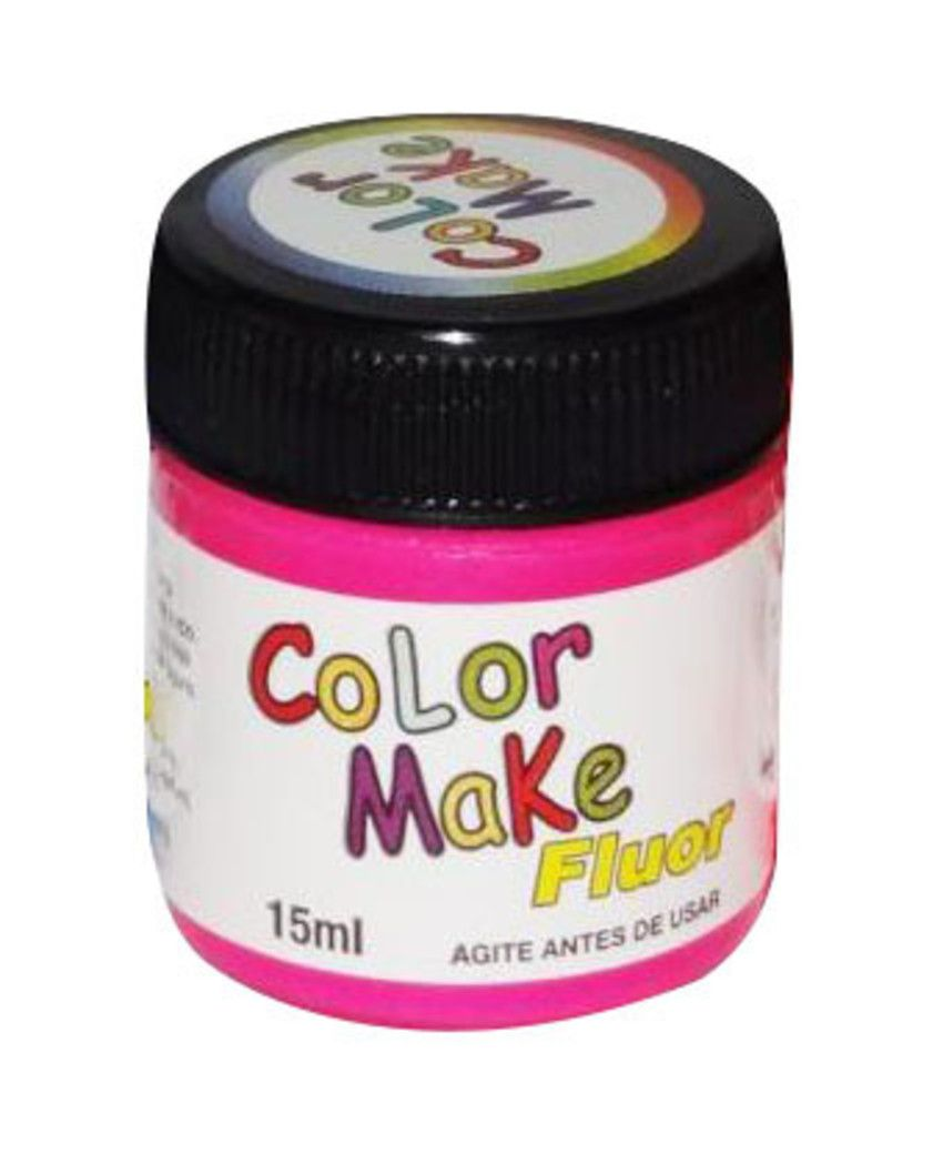 Tinta Líquida Pink Flúor 15ml Color Make